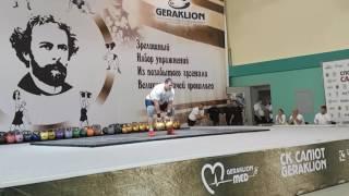 Алексей Ловчев - победитель Кубка Краевского - Парное выталкивание Знаменского