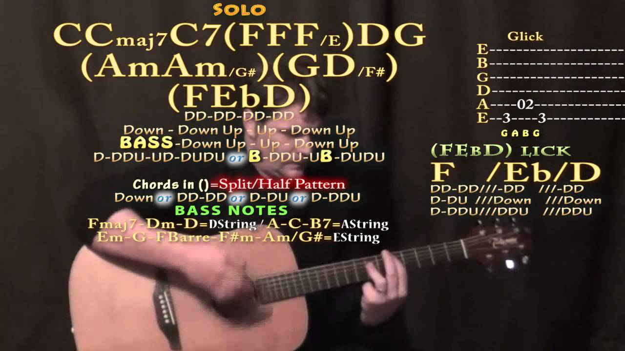 Something The Beatles Guitar Lesson Chord Chart Youtube
