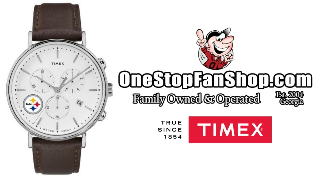 Timex General Manager Chronograph Leather Band Watch: OneStopFanShop