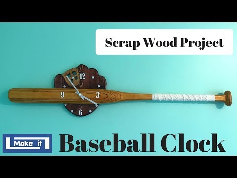 How to make a Baseball Clock With Scrap Wood - DIY