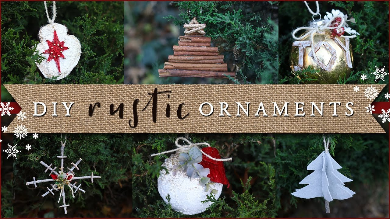 Diy Rustic Christmas Tree Ornaments Youtube