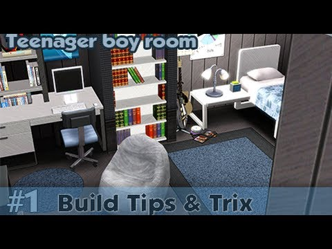 The Sims 3 Building Tips And Trix 1 Teenager Boy Room Youtube
