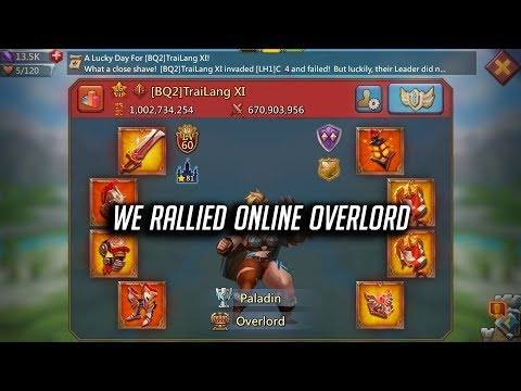 Rallying Online OVERLORD With Full Champion Gear - Lords Mobile