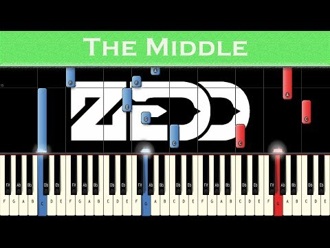 Zedd, Maren Morris, Grey - The Middle | Piano tutorial + MIDI