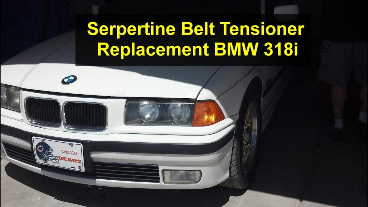 serpentine belt tensioner replacement 318i e36 votd youtube rh youtube com 318i serpentine belt diagram bmw 318i belt diagram