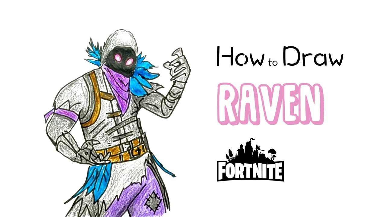 how to draw raven fortnite