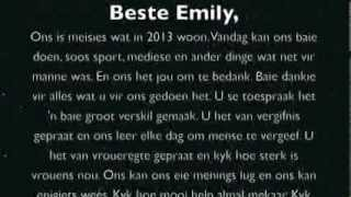 """Beste Emily"" Afrikaans Video Competition (Die Burger)"
