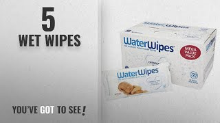 Top 10 Wet Wipes [2018]: WaterWipes Sensitive Baby Wipes, 12 Packs x 60 Wipes (720 Wipes)