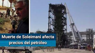 Petróleo sube 3.1% en Nueva York tras muerte de Soleimani