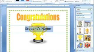 Word 2007 Tutorial 16 - Making a More Advanced Certificate