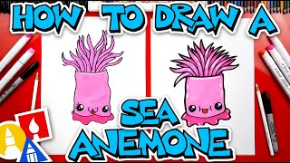 How To Draw A Sea Anemone - #stayhome and draw #withme