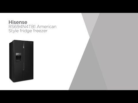 Hisense RS694N4TB1 American-Style Fridge Freezer - Black | Product Overview | Currys PC World