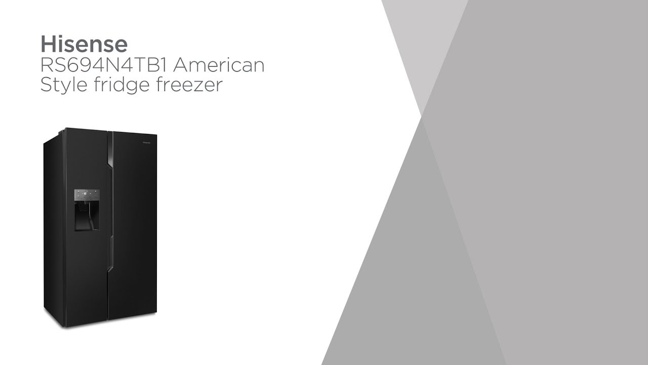 Hisense RS694N4TB1 American-Style Fridge Freezer - Black   Product Overview    Currys PC World