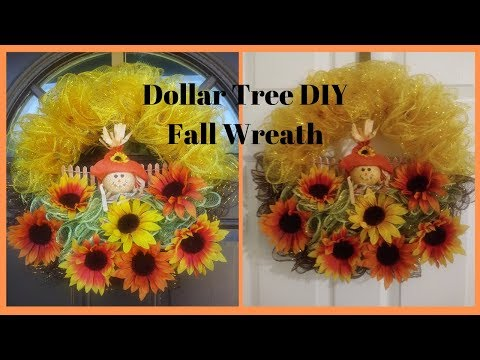 Dollar Tree DIY Fall Wreath