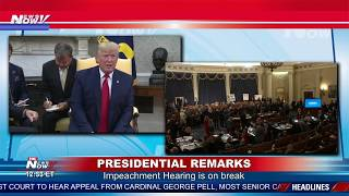 TRUMP SLAMS SCHIFF: Oval office remarks during impeachment hearing