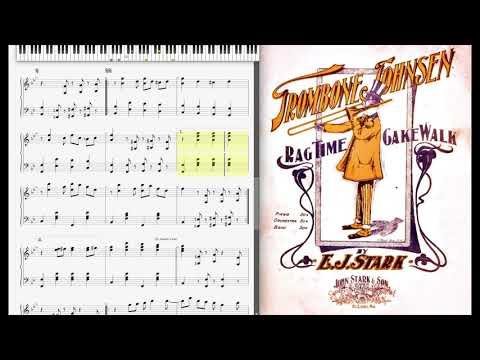 Trombone Johnsen by E. J. Stark (1902, Ragtime piano)