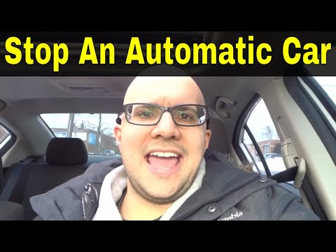 How To Stop An Automatic Car-Beginner Driving Lesson