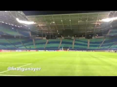 Leipzig Redbull Arena'dayız..