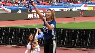 2018.04.08 横浜F・マリノスvs川崎フロンターレ ハーフタイムショー MINMI WINNER