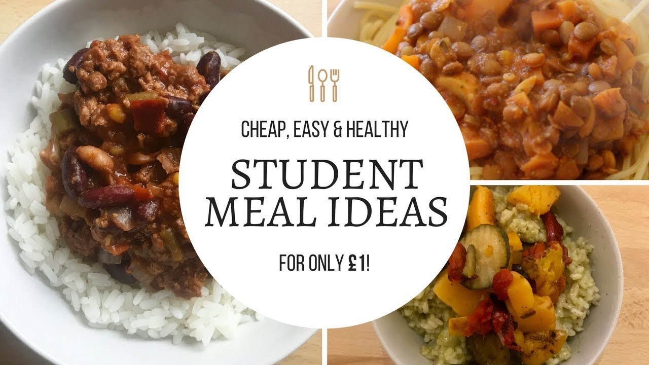 CHEAP STUDENT MEAL IDEAS // Healthy dinners for £1