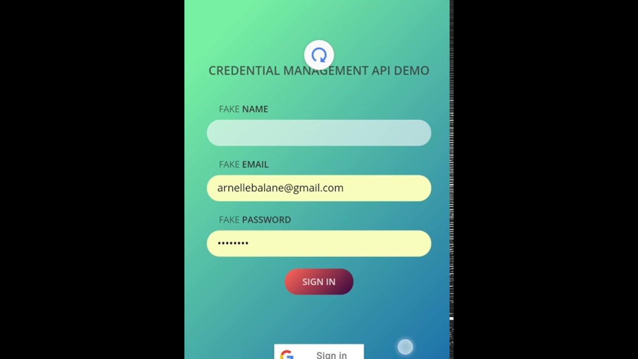 The Credential Management API - Arnelle's Blog