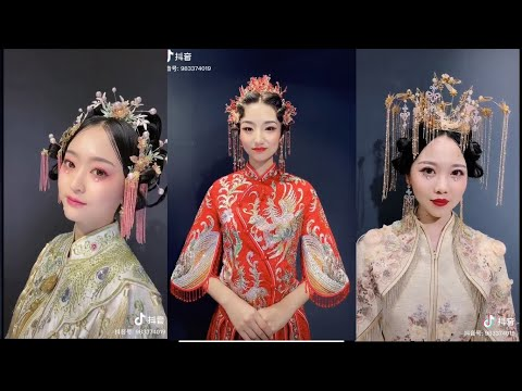 chinese-traditional-wedding-dress-and-hairstyle-|-elegant-and-beautiful