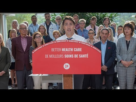 Trudeau brings up Ford cuts when campaigning on health care thumbnail