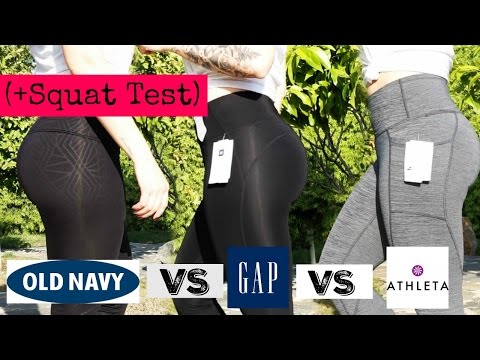 LEGGINGS TRY ON & SQUAT TEST | Old Navy VS Gap VS Athleta