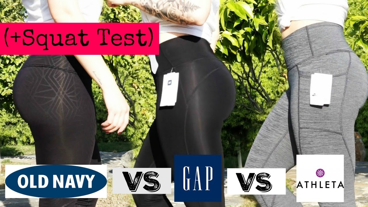 245f64acaf447 LEGGINGS TRY ON & SQUAT TEST | Old Navy VS Gap VS Athleta - YouTube