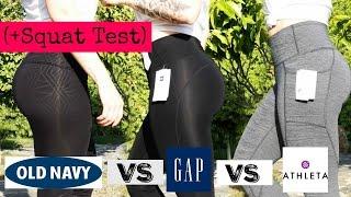 LEGGINGS TRY ON & SQUAT TEST | Old Navy VS Gap VS Athleta