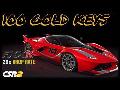 CSR Racing 2 - 100 GOLD keys - Ferrari FXX K 20x drop rate - Can i get it?