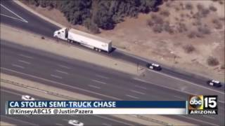 Save yourself 3hrs - Stolen CA semi-truck recap - police pursuit, car chase, police chase