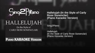 Sing2piano Hallelujah In The Style Of Carly Rose Sonenclar
