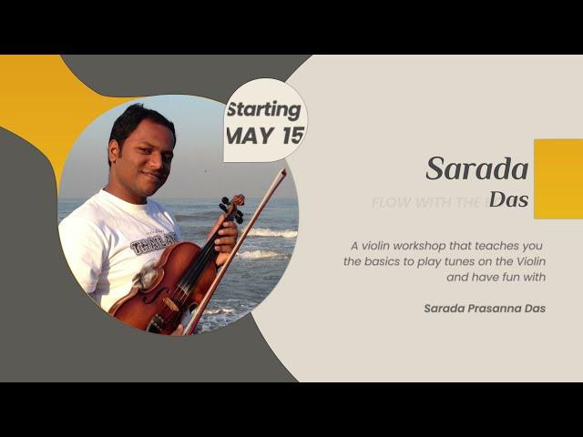 Flow with the Bow | Sarada Prasanna Das teaching foundation of Violin playing