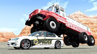 Crazy Police Chases #55 - BeamNG Drive Crashes