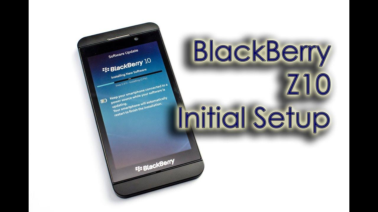 BlackBerry Z10 - Initial Setup