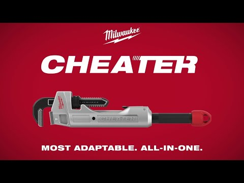 Milwaukee® CHEATER Aluminum Adaptable Pipe Wrench