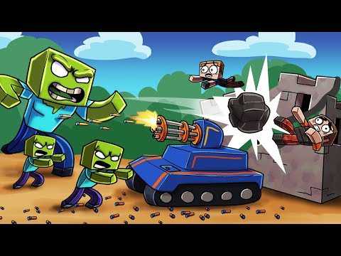 Minecraft - NERF WAR ZOMBIE CHALLENGE: Deadly Nerf TANKS! (Zombies vs House) thumbnail