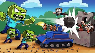 Minecraft - NERF WAR ZOMBIE CHALLENGE: Deadly Nerf TANKS! (Zombies vs House)