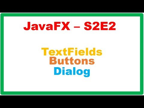 Java – All in One → JavaFX TextFields and Buttons – Get and