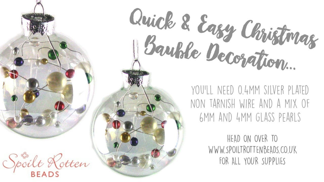 Quick & Easy Beaded Christmas Decoration - Christmas Crafts - YouTube