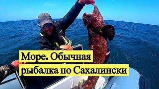 Море. Обычная рыбалка по Сахалински. Поймал и съел знатное чудовище