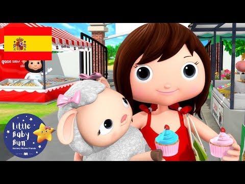 Canciones Infantiles | María Tiene un Corderito P. 3 | Dibujos Animados | Little Baby Bum en Español