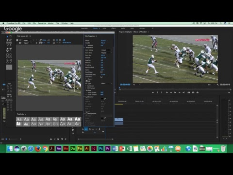 Advanced Effects for Sport Montage Editing in Adobe Premiere.
