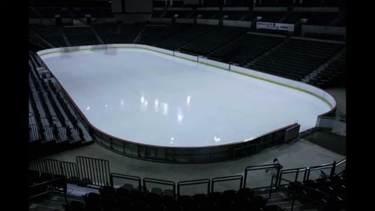 sun national bank center making an ice rink youtube