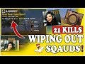 21 KILLS: INSANE MATCH- Wiping out squads! PUBG MOBILE Chicken  Dinner! #INDIA