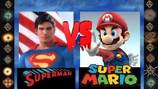 Superman ( Christopher Reeves ) vs Super Mario ( Smash Brothers ) - Ultimate Mugen Fight 2014
