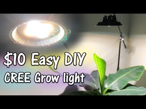 The $10 DIY Cree Pie-Tin Dimmable LED Grow Light