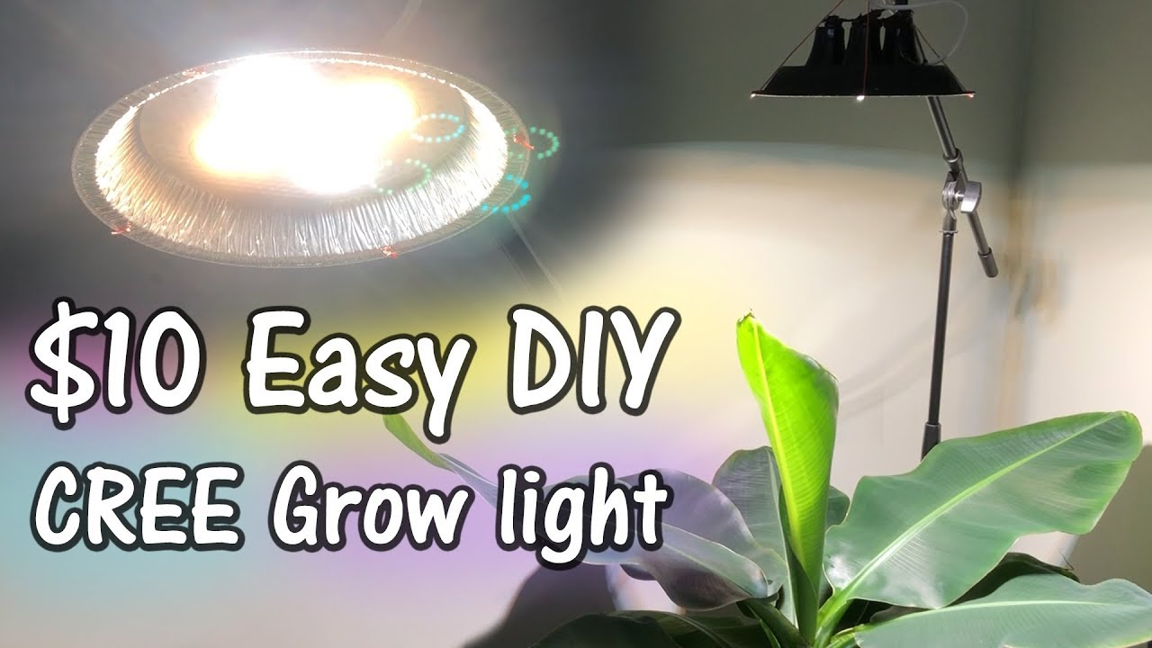 The 10 Diy Cree Pie Tin Dimmable Led Grow Light Youtube