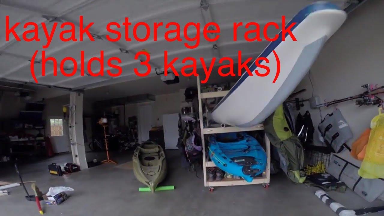 Diy Kayak Storage Rack And Gear Holder Youtube